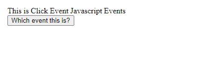 JavaScript events