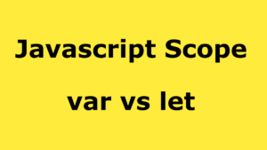 Difference between let and var in JavaScript?