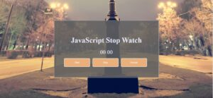 How to create a Stopwatch in JavaScript?