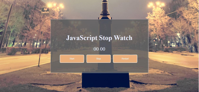 JavaScript Stopwatch